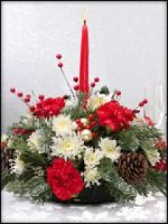Holiday One Candle Centerpiece