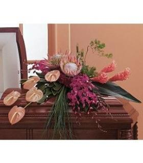 Tropical Design Casket Spray