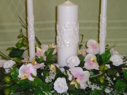 Bridal Candle Silk Centerpiece