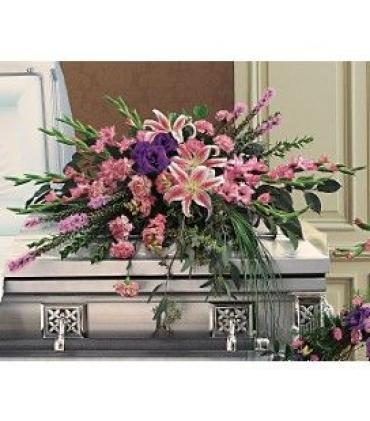 Half Modern Mix Casket Spray