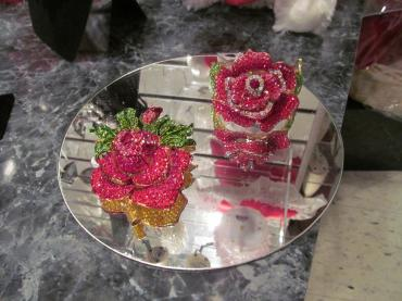 Crystal Rose Pin