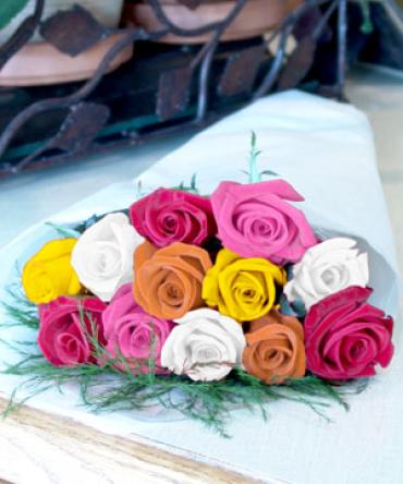 Assorted Roses Wrapped