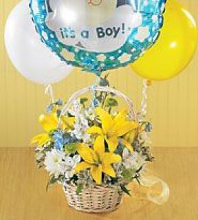 Mixed Basket & Balloons