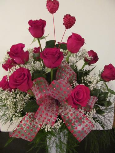 12 Roses Arranged, Delivered on 12th, $12 Off