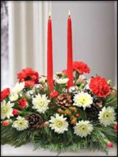 Holiday Two Candle Centerpiece